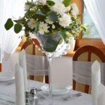 kwiaty na stoły weselne