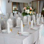 bukiety na stołach weselnych hotel irena